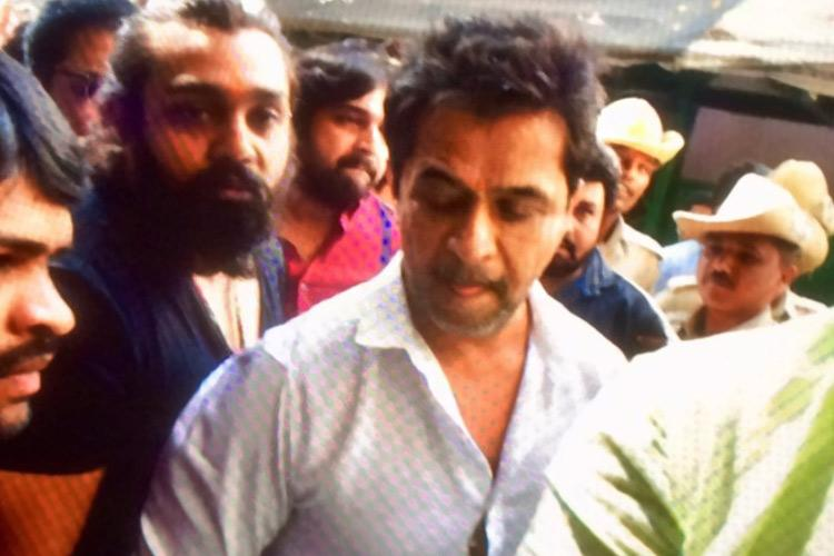 Arjun Sarja appears before Bluru police for questioning in sexual harassment case
