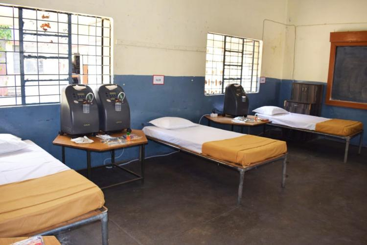 COVID Care Centre set up by Indian Army in Bengaluru