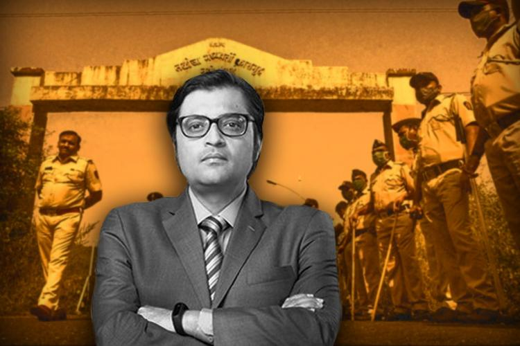 A stylised picture of Republic TV editor in chief Arnab Goswami