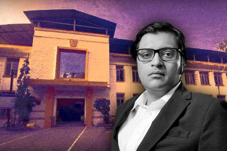 A stylised image of Arnab Goswami