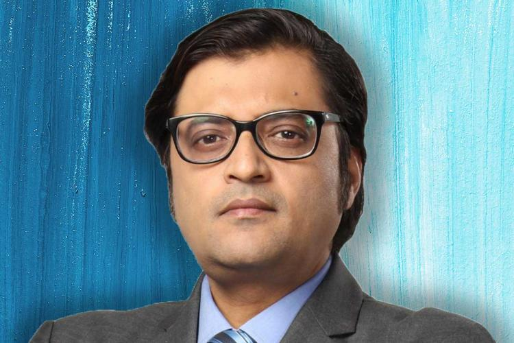Republic TV Editor in Chief Arnab Goswami wearing spectacles and looking into the camera