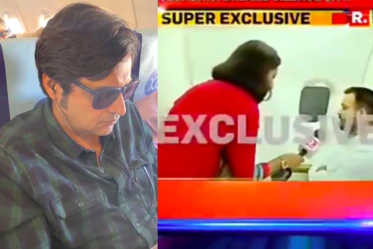 Arnab-Kunal row Video of Republic reporter accosting Tejashwi Yadav on plane is viral