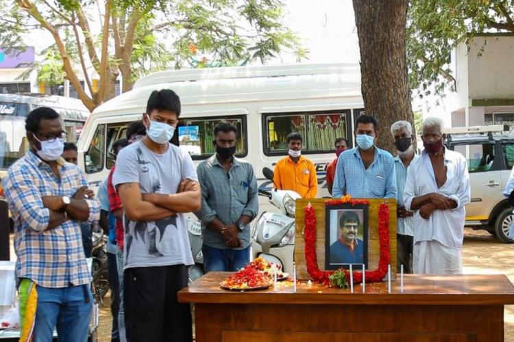 Cast and crew members of Tamil remake of 'Article 15' pay their last respects to late actor Vivek.