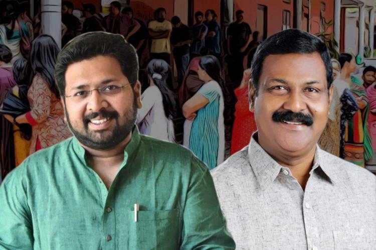Congress MLA KS Sabarinathan and CPIMs G Stephen candidates from Aruvikkara constituency in Kerala