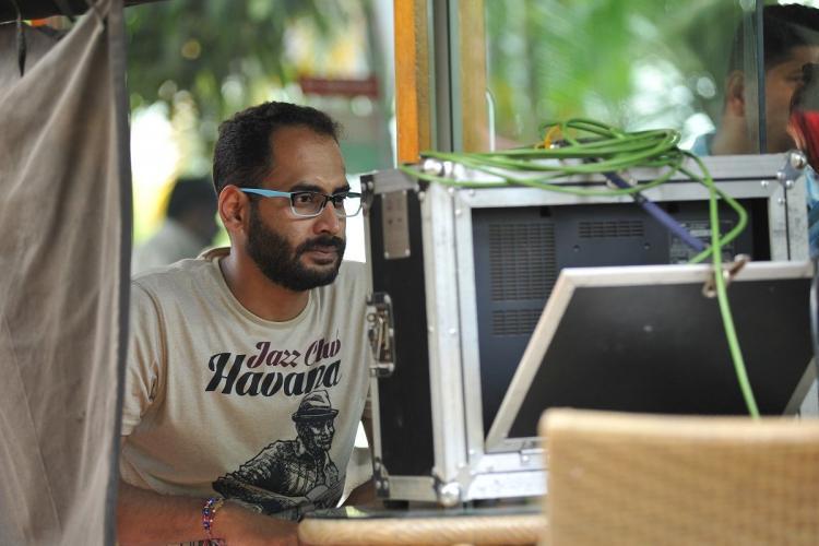 Kannada director Arvind Kamath on sets of Arishadvarga