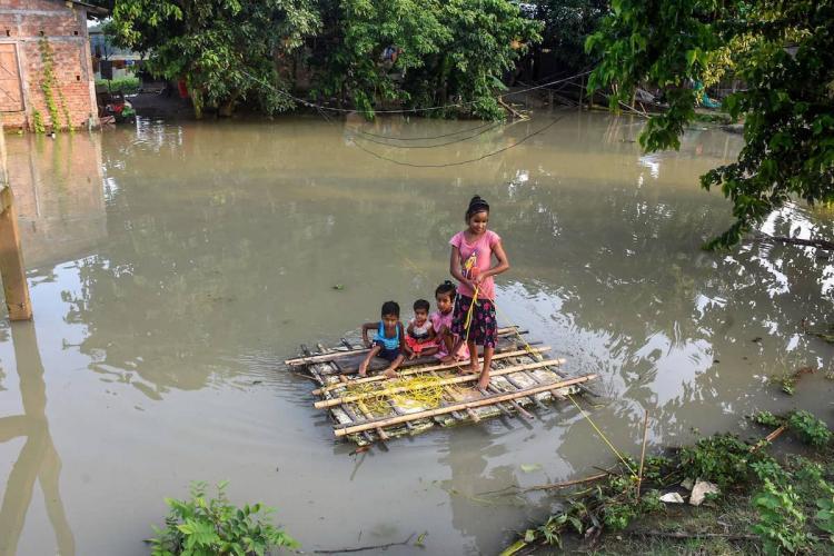 Family stranded in Assam during floods