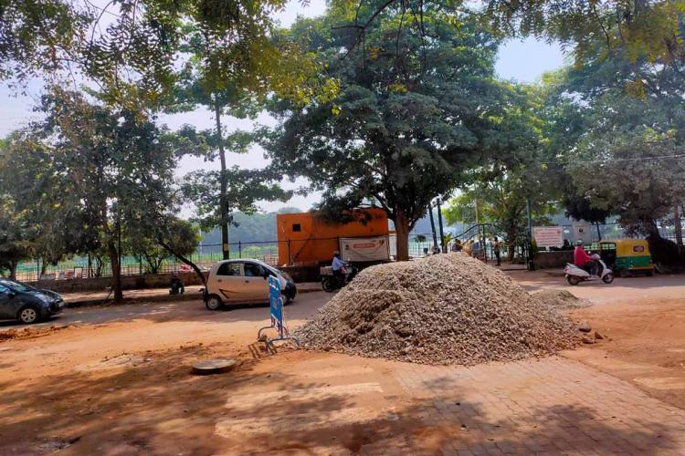 Bengalurus Assaye Road broken and dug up