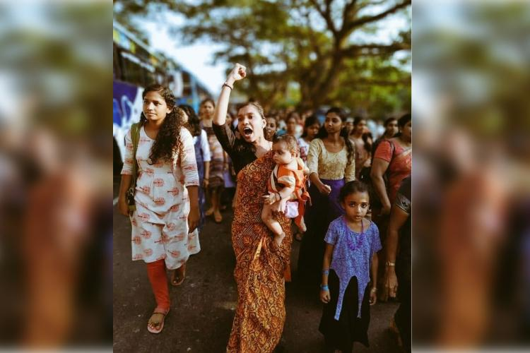 Meet Athira who became the face of Kerala Womens Wall
