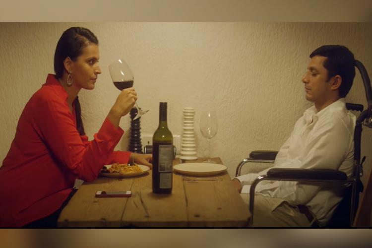 Ishika and Yudhishtir eating dinner in Awake short film