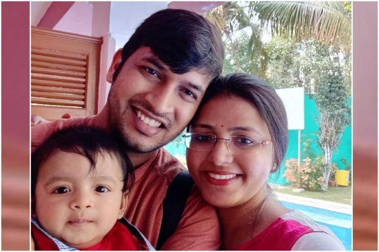 Ayaansh with his parents