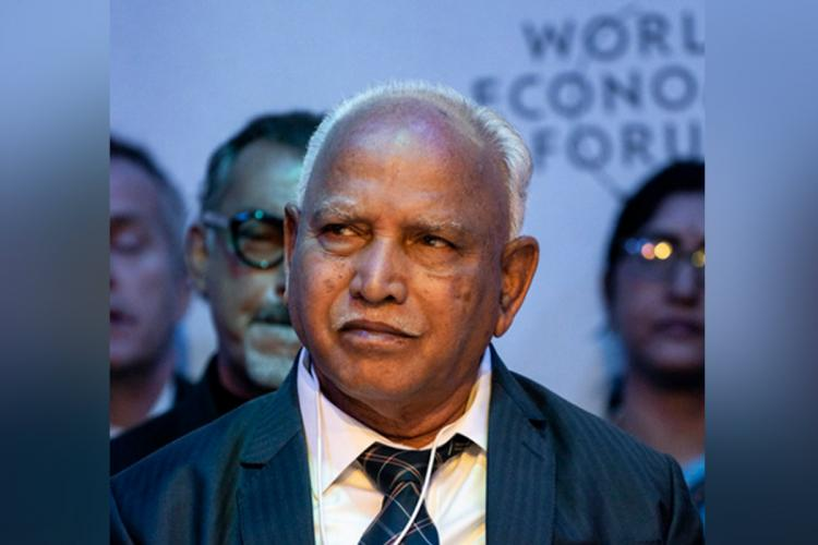 Karnataka Chief Minister BS Yediyurappa wearing a suit and tie