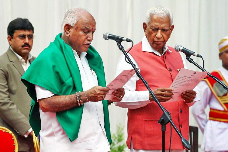 Yeddyurappa sworn in as 23rd Karnataka CM takes oath amidst Cong-JDS protest