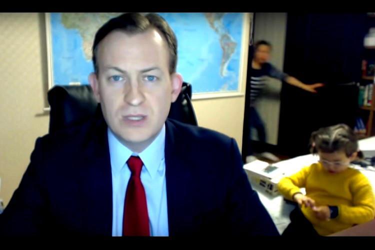 Hilarious video of kids crashing dads expert analysis on BBC goes viral