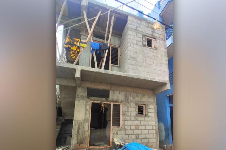 Under-construction house