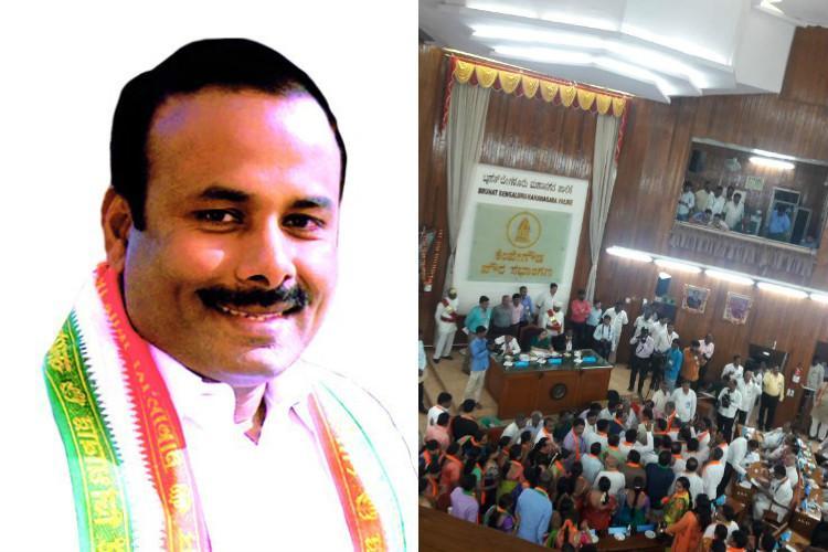 BJP boycotts BBMP mayoral polls Sampath Raj elected as Bengaluru Mayor