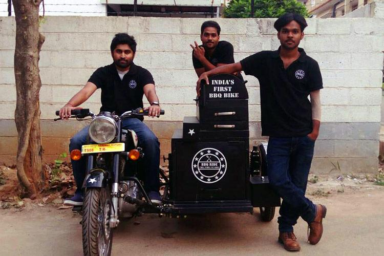 Bikes and barbecue Meet the Bengaluru men grilling burgers on Royal Enfields