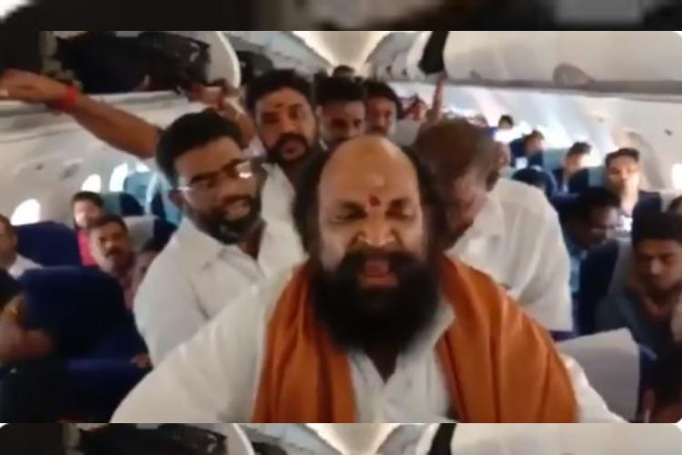 Thevar outfit chief 7 others arrested in Madurai for raising slogans inside aircraft
