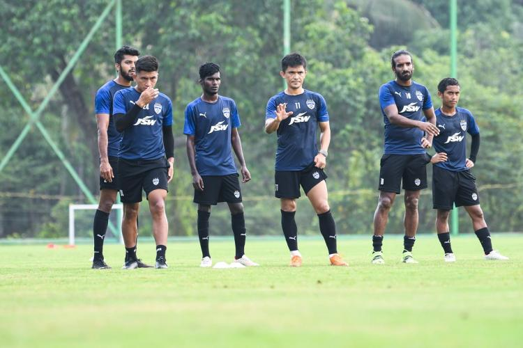 A training sesson of Bengaluru FC players in Mladivs