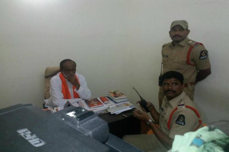BJP tries to lay siege to KCRs office for Modi remark several leaders detained