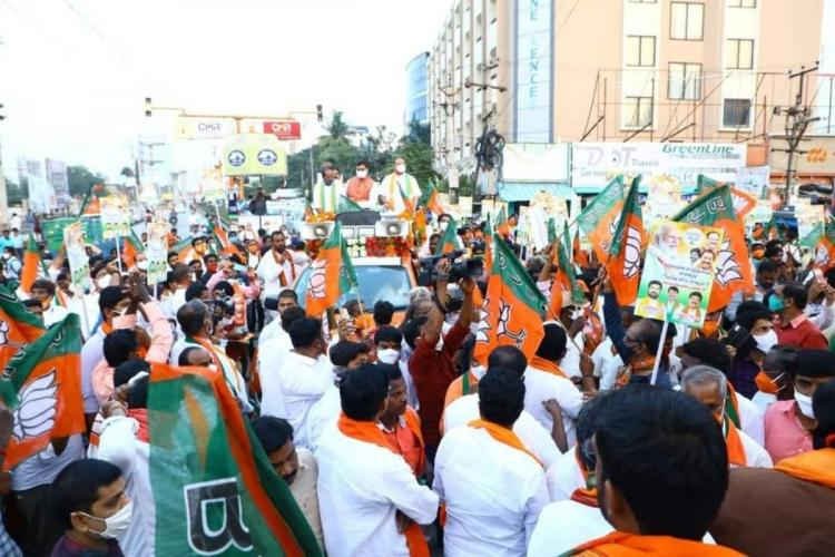 A glimpse from BJP rally in Tirupati followed by an executive meeting