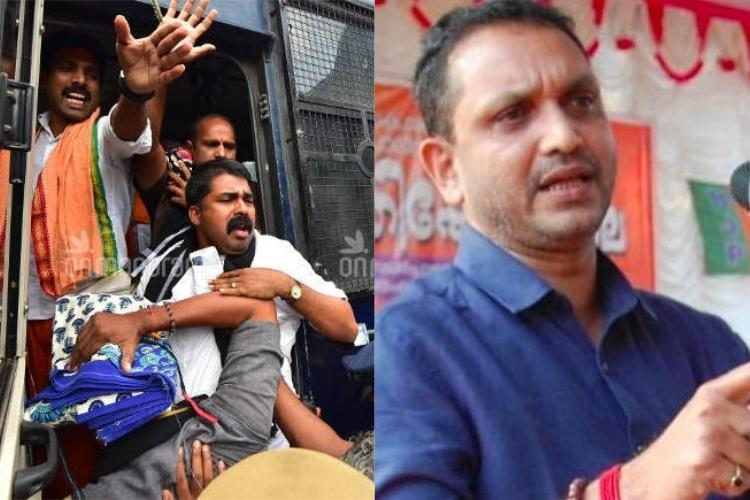 8 BJP workers arrested at Nilakkal for defying police orders at Sabarimala
