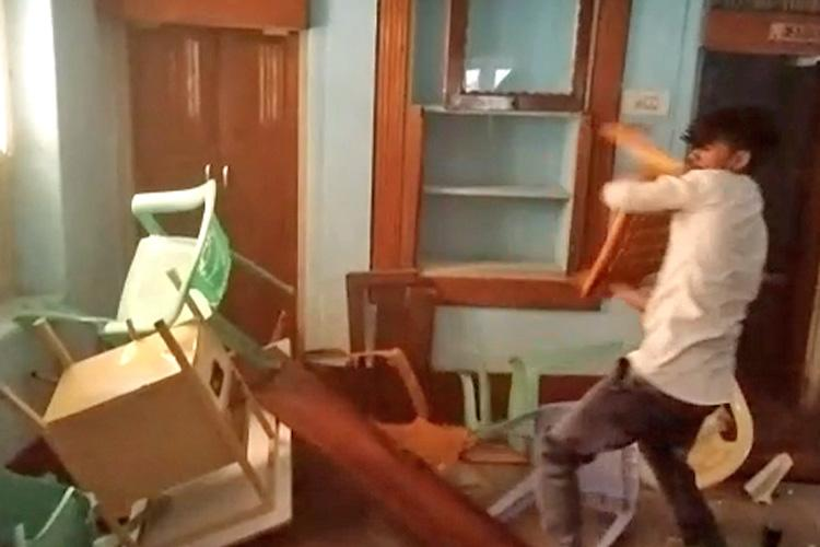 BJP cadre vandalise Pavagada office over possibility of veterans being denied tickets
