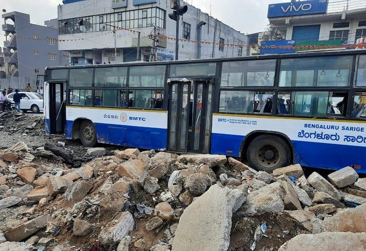 Two dead as BMTC bus rams into bikes in Bengaluru Driver says brake failed