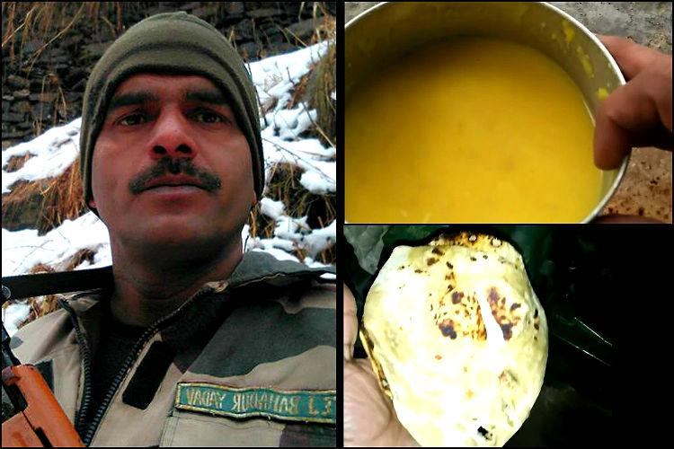 Watch BSF jawan exposes the abysmal food soldiers survive on authorities rubbish claims