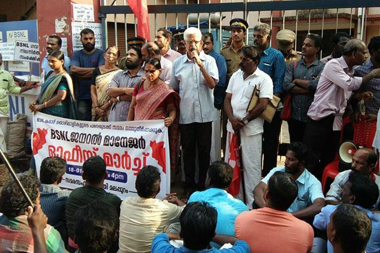 No salary for months scores of BSNL contract staff in Kerala stare at uncertain future