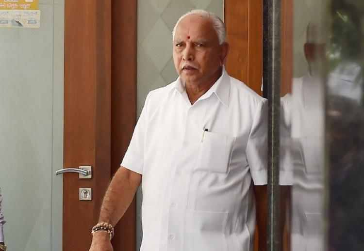 BS Yediyurappa walking into the Karnataka Legislative Assembly