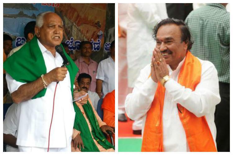 In the Eshwarappa-Yeddyurappa battle Puttaswamy gets kicked out of meeting once again