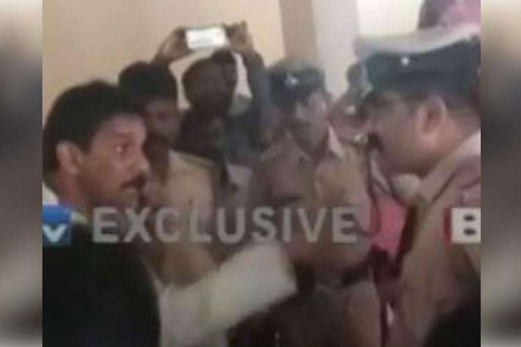 Video BJP MP intimidates cop in Mangaluru threatens strike if party men not left free