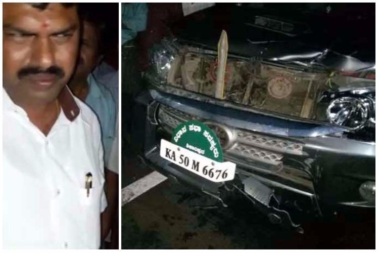 Yeddyurappas son and MLA BY Raghavendras car rams into pedestrian kills him