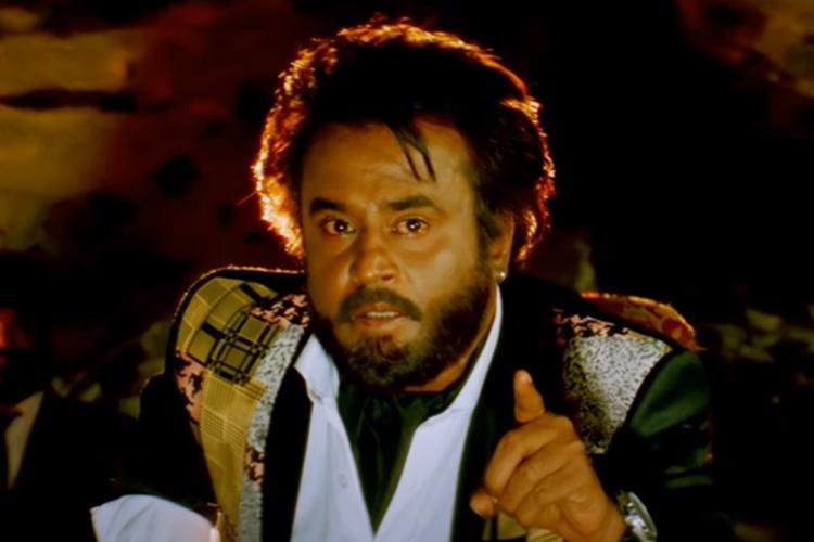 Rajinikanth as Baasha from the film Baasha