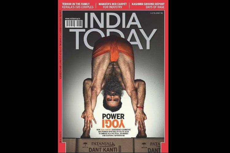 Baba Ramdevs weird-asana amidst fighter jets and Rio 2016 Memes on India Today cover