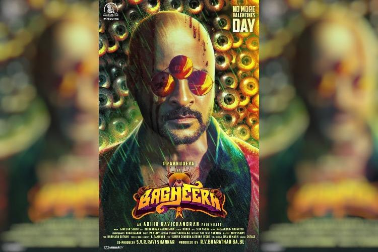 Dhanush releases first look poster of Prabhudeva starrer Bagheera