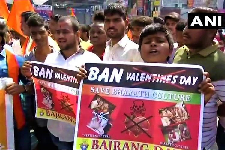 V Day violence Bajrang Dal ransacks Manjeera Mall in Hyderabad