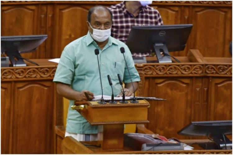 Kerala Finance Minister KN Balagopal presenting his maiden budget in the Assembly