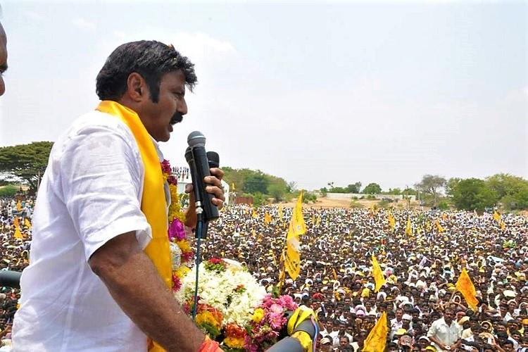 Actor-politician Nandamuri Balakrishna slaps fan during campaign