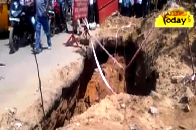 Hyderabads civic apathy kills one more Old man falls into open pit in Balanagar and dies