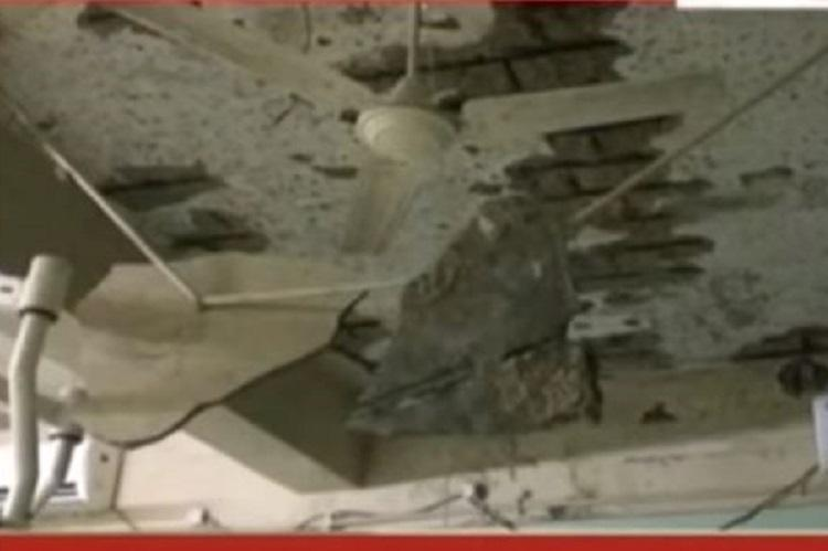 Karnataka hospital shocker Operation theatre roof collapses for the second time in 2 years