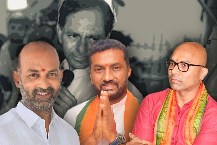 A collage of BJP leaders in Telangana