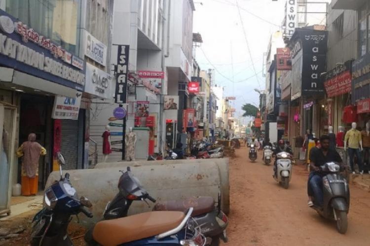 Bengaluru road dug up for works