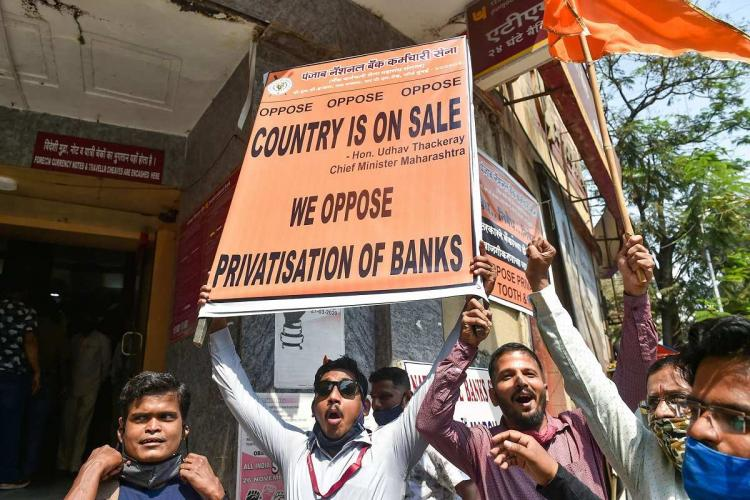 Two-day bank strike ends unions warn protests to continue if PSBs are privatised