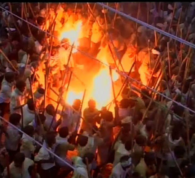 One dead 50 injured in Andhras Banni festival due to stampede-like situation