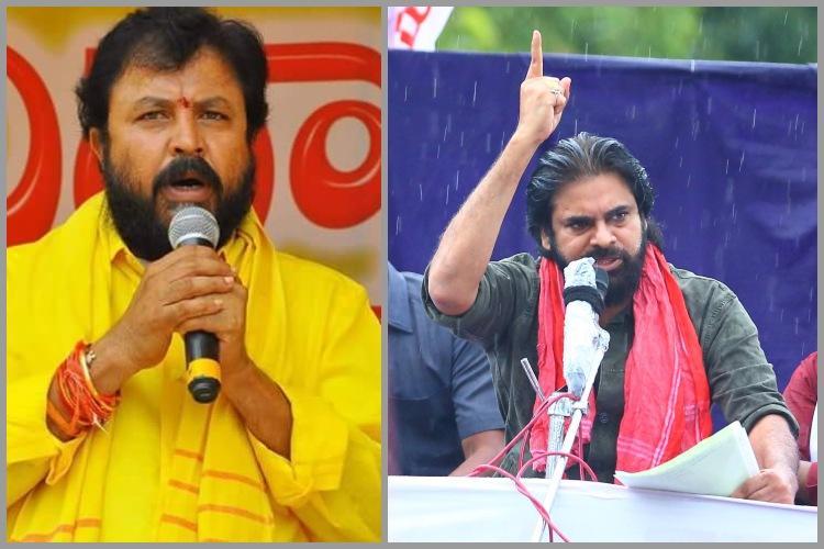 I challenge you to contest against me TDP MLA Chintamaneni to Pawan Kalyan