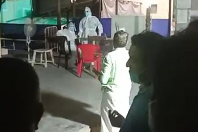Food utensils being handled in toilet COVID-19 patients in Kerala hospital protest