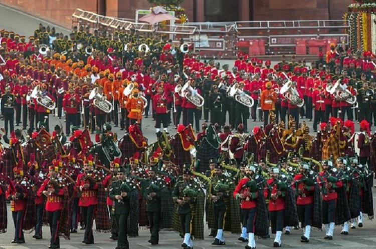 Hymn Abide With Me retained in Beating the Retreat tunes