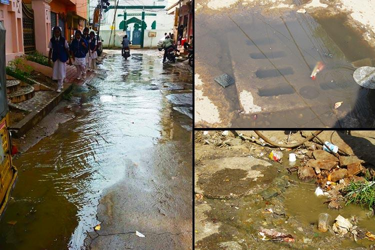 Sewage clogs Hyderabads Begumpet and the only solution officials have is manual scavenging