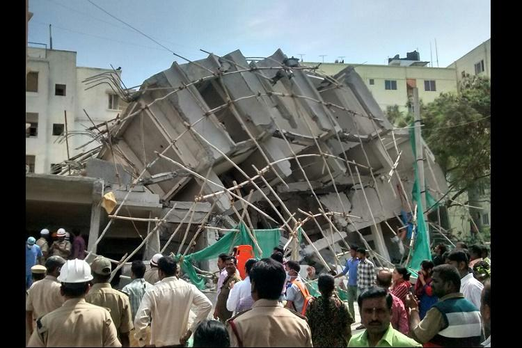 Bengaluru building collapse Death toll rises to 5 builders and architect booked